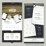 Office scene one page website design template Stock Images