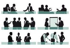 Office scenes royalty free illustration
