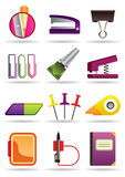 Office and school bookstore tools Stock Images