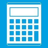 Office, school electronic calculator icon white Royalty Free Stock Photography