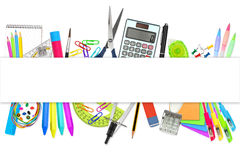 Office school stationary supplies Royalty Free Stock Images