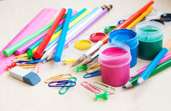 Office or school supplies Stock Image