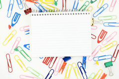 Office and School Supplies with Copy Space Stock Image