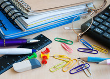 Office or school supplies Royalty Free Stock Photo