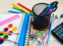 Office or school supplies Royalty Free Stock Images