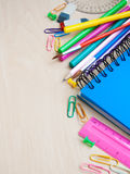 Office or school supplies Stock Images