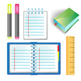 Office school supply set Royalty Free Stock Photo