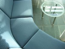 Office seating. Closeup of office seating with table in landscape Royalty Free Stock Photo