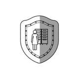 Office secretary pictogram Royalty Free Stock Image