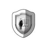Office secretary pictogram Royalty Free Stock Images