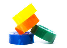 Office sellotape pile Stock Images