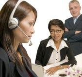 Office service team royalty free stock photos