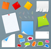 Office set. Collection of icons of office subjects. A  illustration Stock Photos
