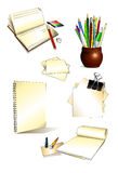 Office set Hand drawn Stock Photography