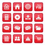 Office set icons Royalty Free Stock Photography