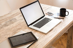 Office setup Royalty Free Stock Photography