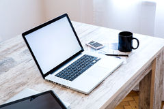 Office setup Royalty Free Stock Photos