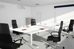Office setup with table and chairs Stock Image