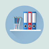 Office Shelf With Document Folder Icon Royalty Free Stock Images