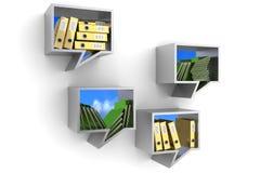 Office shelves Stock Image