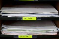 Office shelves full of different  files Stock Photo