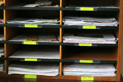 Office shelves full of files Royalty Free Stock Photo