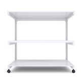 Office shelving unit on wheels Royalty Free Stock Photo