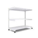 Office shelving unit on wheels Royalty Free Stock Photography