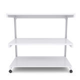 Office shelving unit on wheels Stock Image