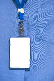 Office shirt with Blank ID card Stock Image