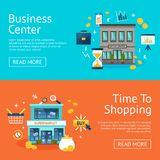 Office And Shops Banners Set Stock Photography