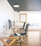 Office sideview Royalty Free Stock Image