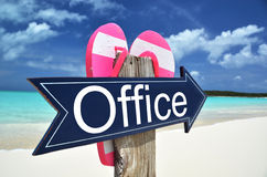 OFFICE sign. On the beach Stock Photography