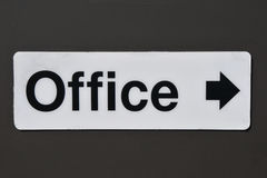 Office sign with directional arrow Stock Images