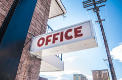 Office Sign Stock Photography