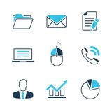 Office simple vector icon set Royalty Free Stock Photos