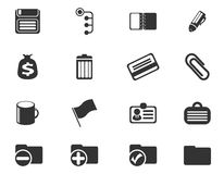 Office simple vector icons Stock Images