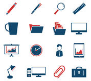 Office simply icons. Office simply symbol for web icons and user interface stock illustration
