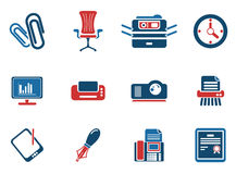 Office simply icons. Office simply symbol for web icons and user interface Stock Images