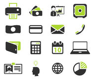 Office simply icons Stock Photography