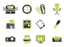 Office simply icons Stock Photo