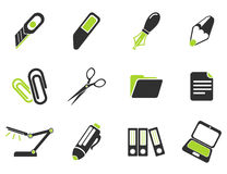 Office simply icons Stock Image