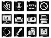 Office simply icons. Office simply symbol for web icons and user interface Royalty Free Stock Image