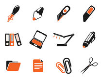 Office simply icons. Office simply symbol for web icons and user interface Stock Photo