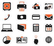 Office simply icons Royalty Free Stock Photography