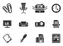 Office simply icons Stock Images