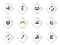 Office simply icons Stock Photos