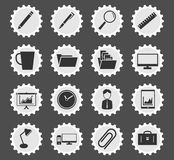 Office simply icons Royalty Free Stock Photos