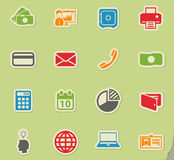 Office simply icons Royalty Free Stock Images