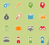 Office simply icons Royalty Free Stock Photo